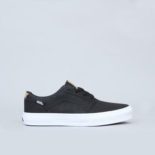 Vans Chapman Stripe Youth Shoes (H17 Leather) Black / White