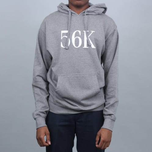 Bronze 56K Flock Hooded Sweatshirt Grey