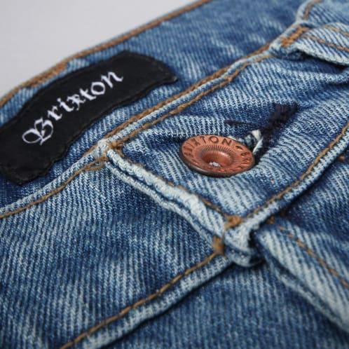 Brixton Labor 5 Pocket Denim Pants Faded Indigo