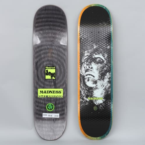 Madness 8.25 Clay Kreiner Mint Dispair Skateboard Deck