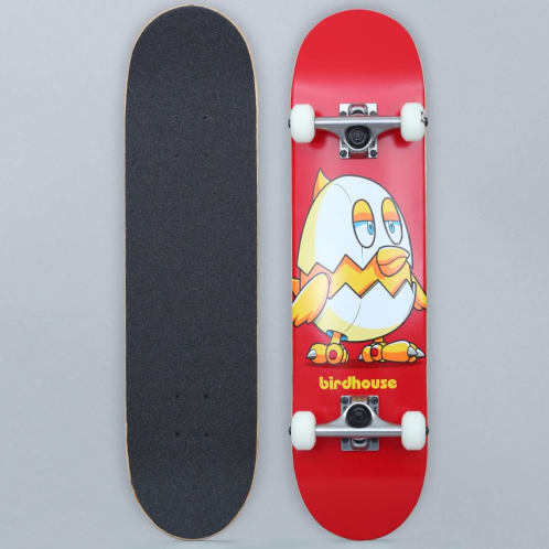 Birdhouse 7.375 Stage 1 Chicken Complete Skateboard Red