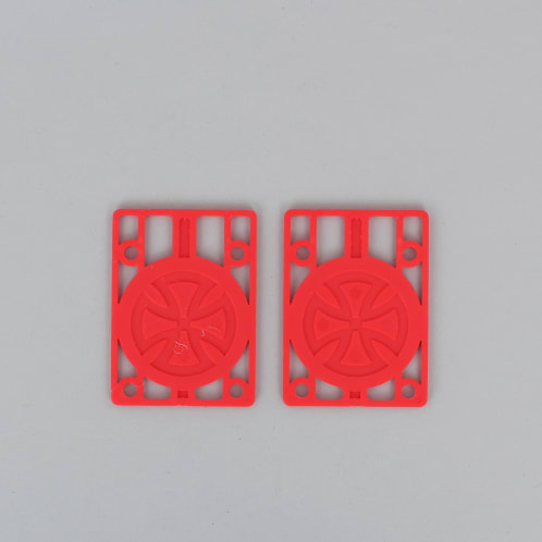 Independent 1/8 Riser Pads Red