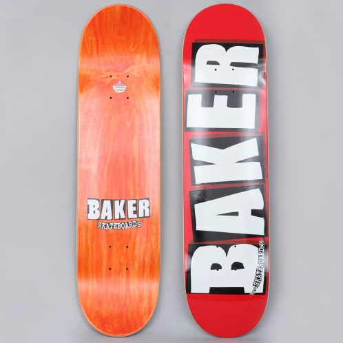 Baker 8 Brand Logo Skateboard Deck Red / White