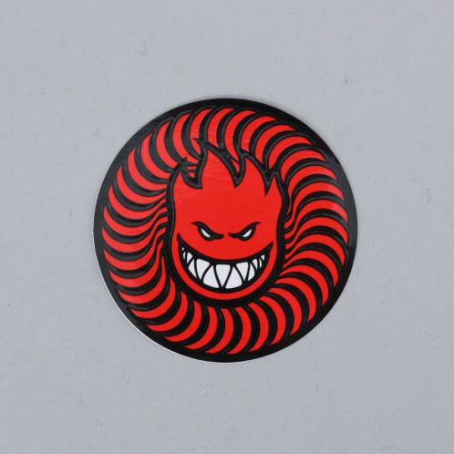 Spitfire Swirl Head Sticker Red