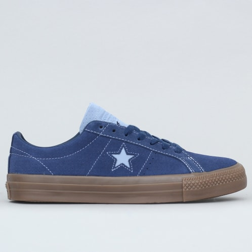 Converse One Star Pro OX Shoes Navy / Indigo Fog / Brown