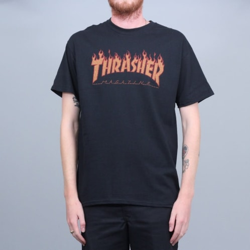 Thrasher Flame Halftone T-Shirt Black