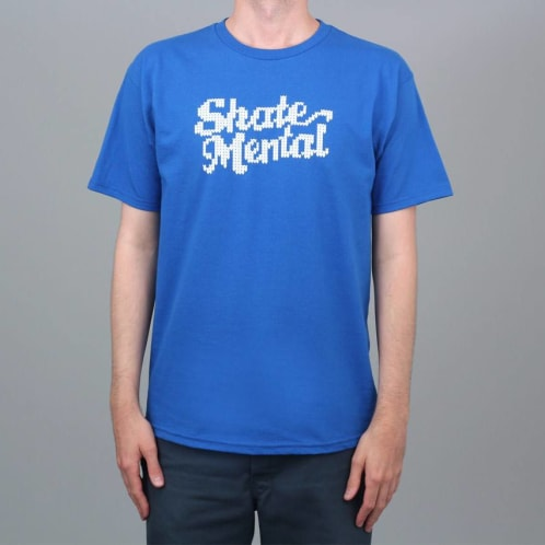 Skate Mental Knit Logo T-Shirt Royal
