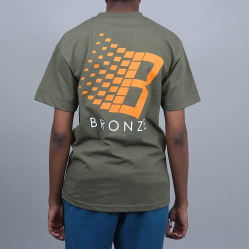 Bronze Classic Logo T-Shirt Forest Green