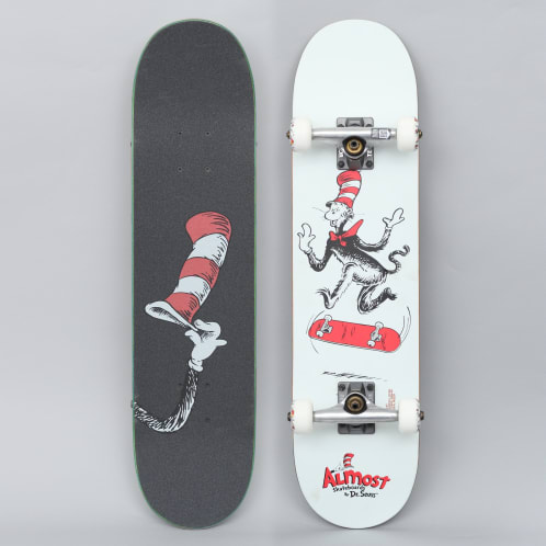 Almost 7.375 Cat Tre Youth Premium Complete Skateboard White