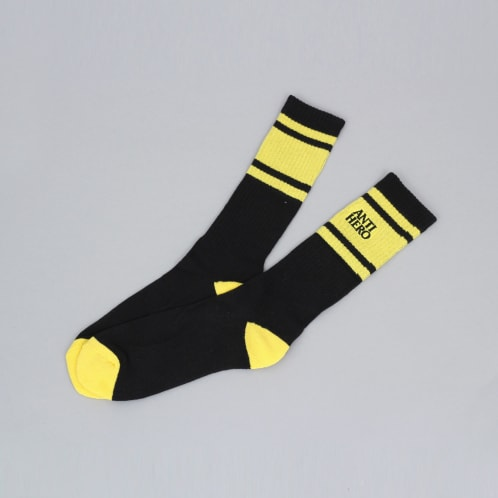 Anti Hero Eagles Up Socks Black / Yellow