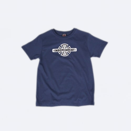 Independent Vintage Cross Youth T-Shirt Navy