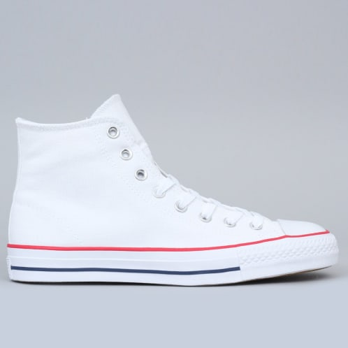 Converse CTAS Pro Hi Canvas Shoes White / Red / Insignia Blue