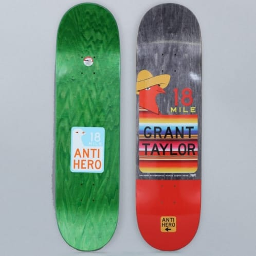 Anti Hero 8.5 Taylor Scenic Drive Part II Skateboard Deck Black / Red