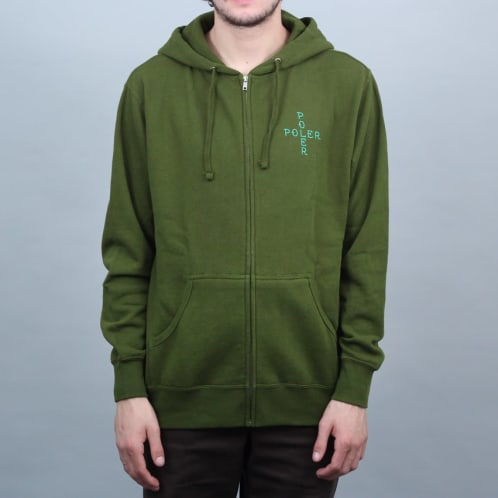 Poler Stuff Town Dog Zip Hood Green