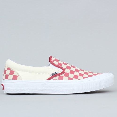 Vans Slip-On Pro Shoes (Checkerboard) Mineral Red