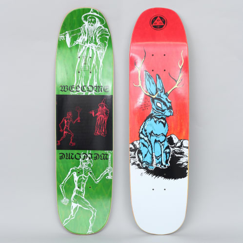 Welcome 8.25 Jackalope On Son Of Moontrimmer Skateboard Deck Fire Stain