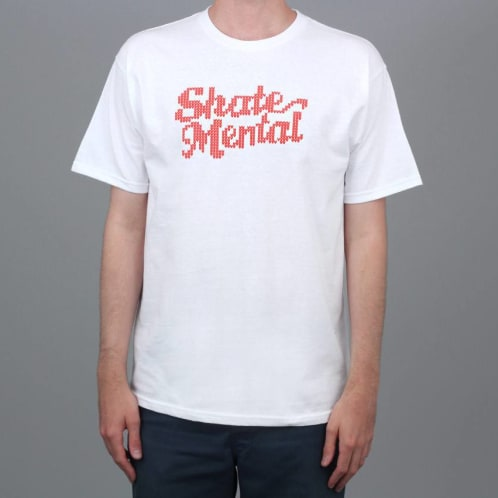 Skate Mental Knit Logo T-Shirt White