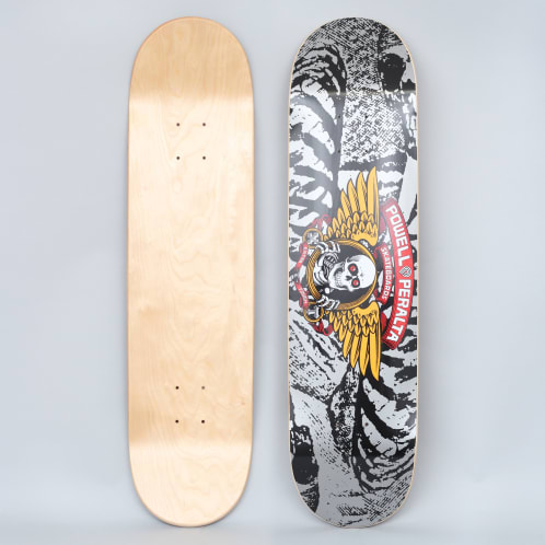 Powell Peralta 8 Winged Ripper PP Skateboard Deck Silver