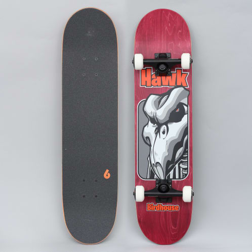 Birdhouse 7.5 Stage 3 Hawk Old School Complete Skateboard Red