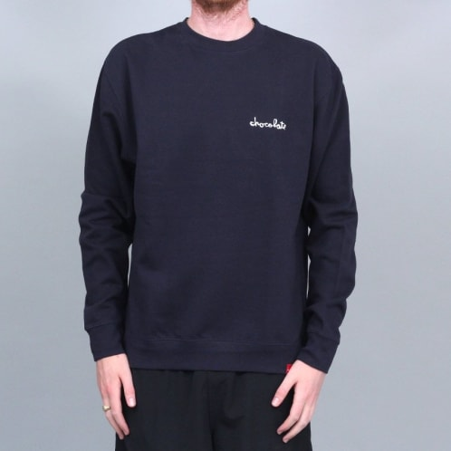 Chocolate Mini Chunk Embroidered Crew Navy