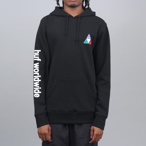 HUF Prism Triple Triangle Pullover Hood Black