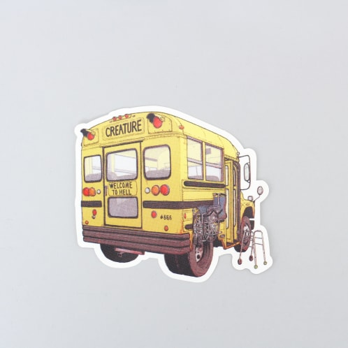 Creature Maniac Bus Sticker Clear