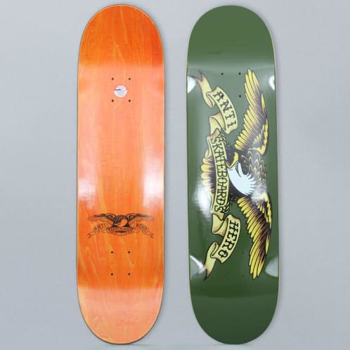 Anti Hero 8.38 Classic Eagle Skateboard Deck Olive