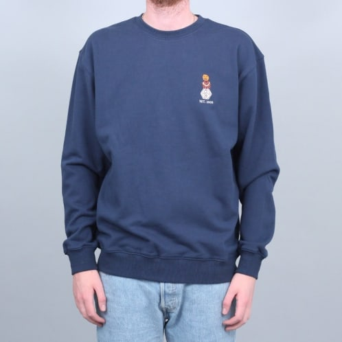 Quartersnacks Embroidered Snackman Crew Navy