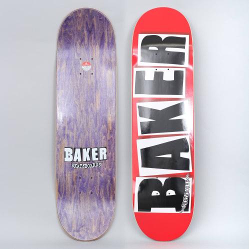 Baker 8.3875 Brand Logo Skateboard Deck Red / White