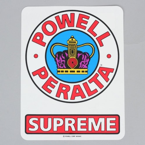 Powell Peralta Supreme OG Ramp Sticker Red / White / Blue