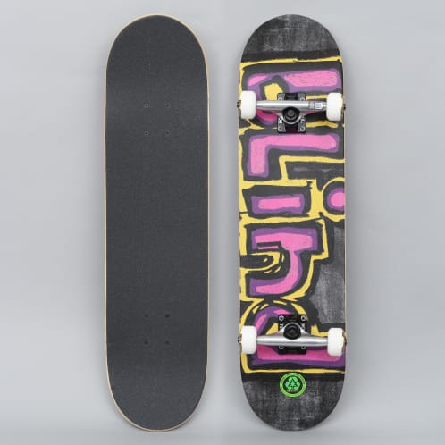 Blind 8 Chalk FP Complete Skateboard Yellow / Purple / Pink