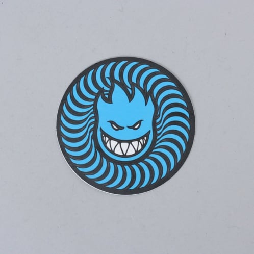 Spitfire Swirl Head Sticker Blue