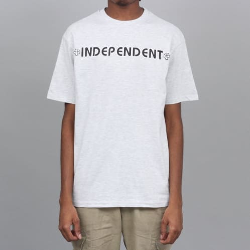 Independent Bar Cross T-Shirt Athletic Heather