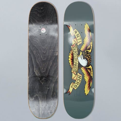 Anti Hero 8.25 Classic Eagle Large Team Skateboard Deck Grey