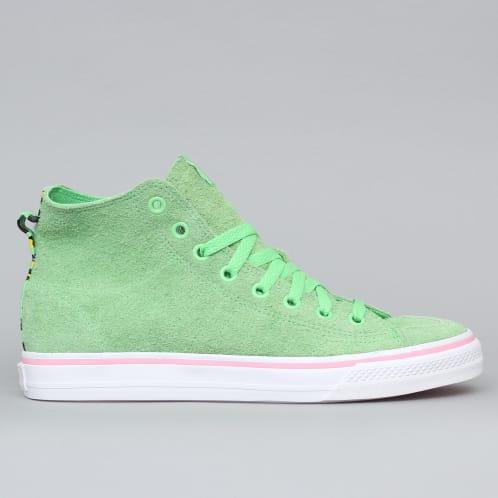 adidas Nizza Hi RFS X Nakel Shoes Spring Green / Footwear White / Light Pink