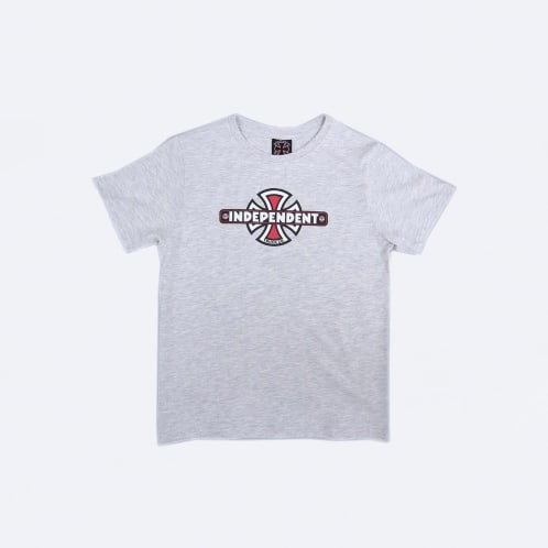 Independent Vintage Cross Youth T-Shirt Athletic Heather