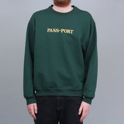 Passport Gold Official Embroidery Sweater Forest Green