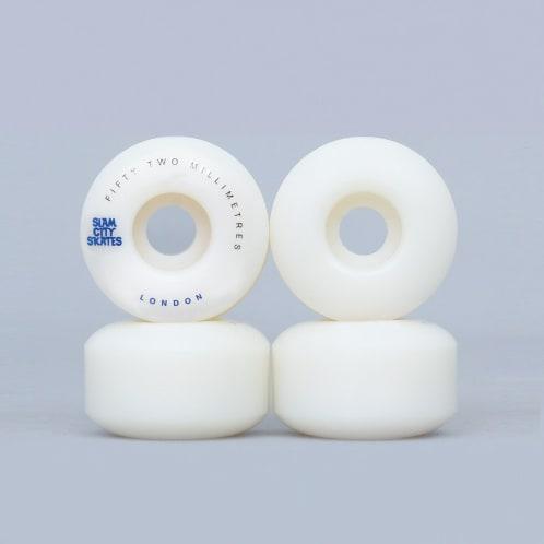 Slam City 52mm 101A London Skateboard Wheels White