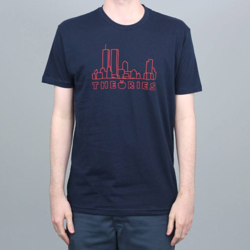Theories Of Atlantis Big Apple T-Shirt Midnight Navy / Red