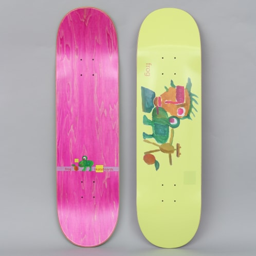 Frog 8.6 Painting Skateboard Deck Yellow