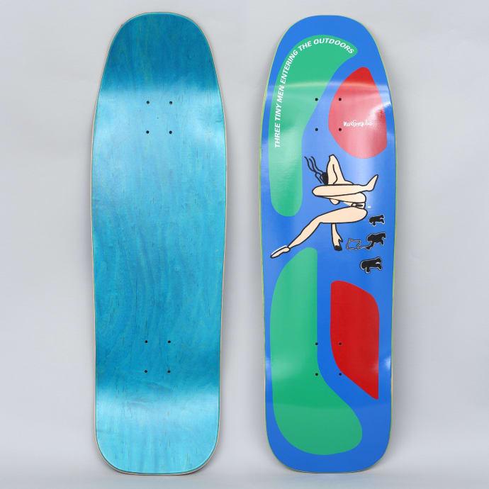 Prime 9.5 Turner / Gonz Flocked Lady Old School Skateboard Deck Blue