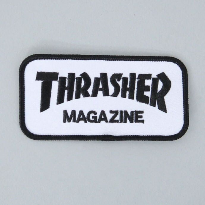 Thrasher Magazine Logo Patch White / Black