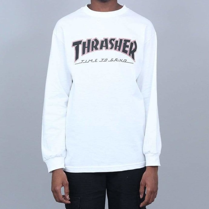 Independent X Thrasher TTG Longsleeve T-Shirt White