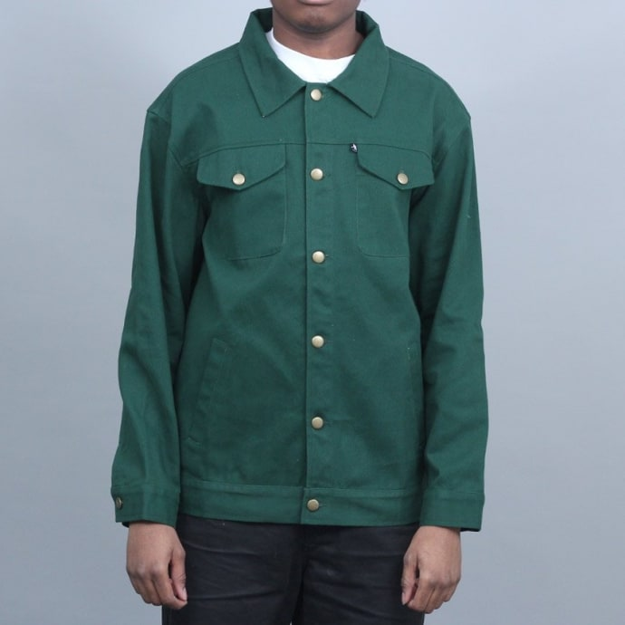 Passport Workers Late Jacket Forest Green
