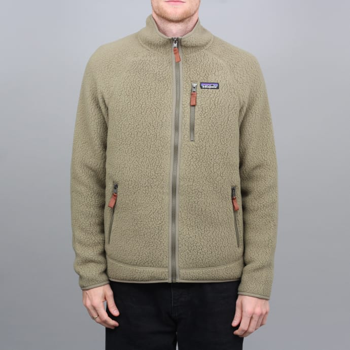 Patagonia Retro Pile Fleece Jacket Sage Khaki
