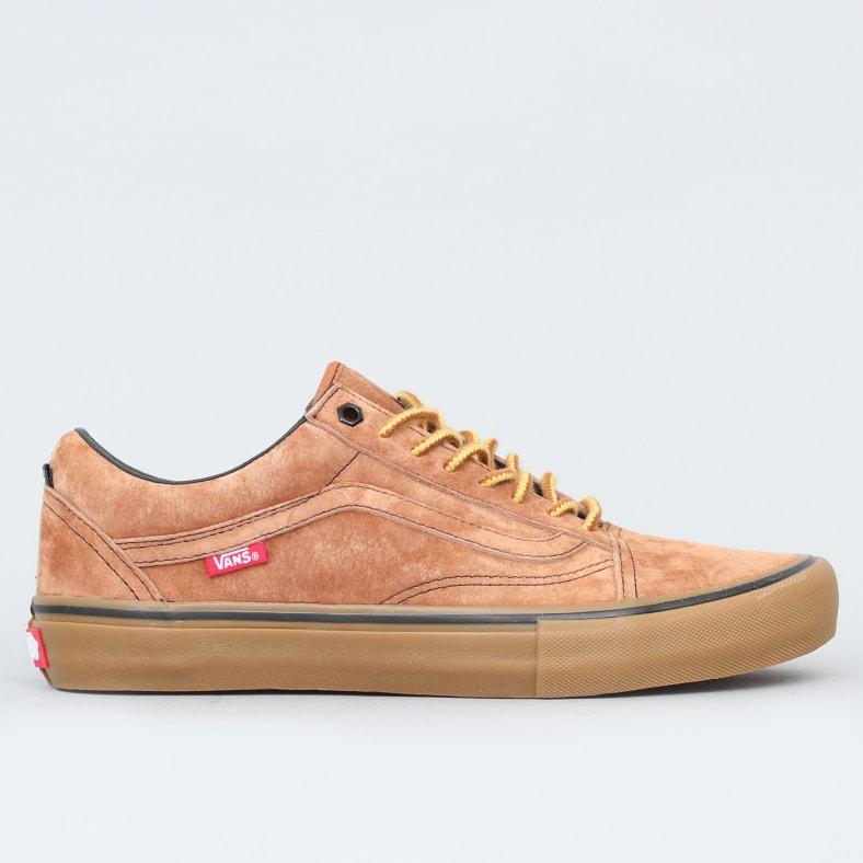 Vans Old Skool Pro Shoes (Checkerboard) Golden Oak – Slam