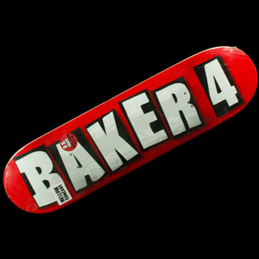 Baker Skateboards - Baker 4 OG Red Deck