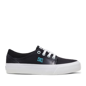 DC Trase TX SE Skate Shoes (Kids) - Black / Print