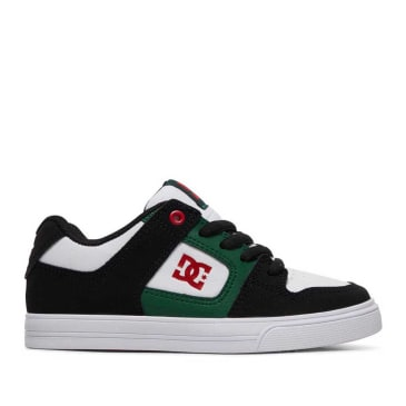 DC Pure Skate Shoes (Kids) - Grey / Green