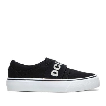 DC Trase TX SP Skate Shoes (Kids) - Black / White